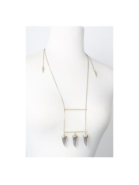 Cornum 3 Horns Necklace on mannequin