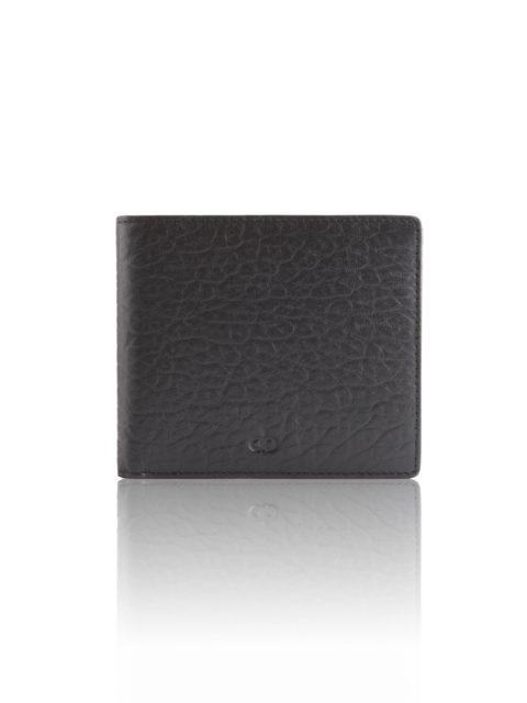 AVGVS.S1.Men's.Lantana.Billfold.Wallet.bubble.calf.leather.black.1.fronta