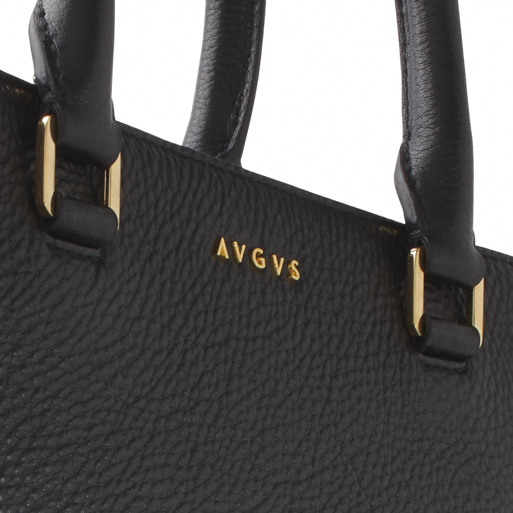 AVGVS.S2.Dionaea.tote.shopper.bag.gold.studs.black.pebble.leather.detail.SS