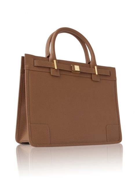 AVGVS.S2.Byblis.Rettile.Textured.Calf.Leather.Mid.Tote..Bag.cognac.3.3quarterview