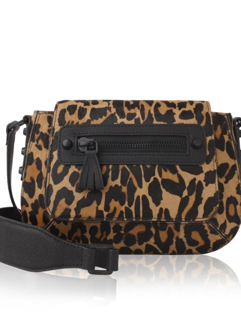 AVGVS Carissa Leopard Haircalf Mini Crossbody Bag