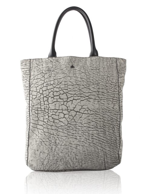 AVGVS.S2.Drosera.shopper.tote.bag.sueded.bubble.lambskin.leather.grey1.front