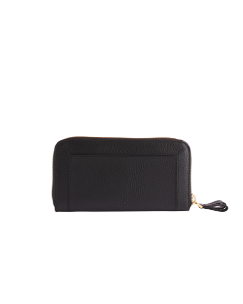 AVGVS Carissa Continental wallet black pebble leather