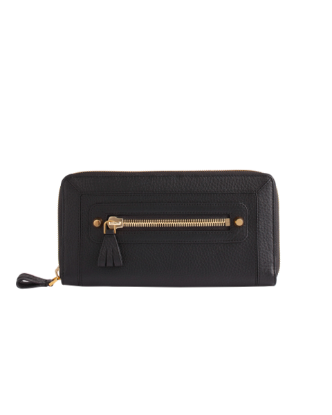 AVGVS Carissa Travel wallet black pebble leather