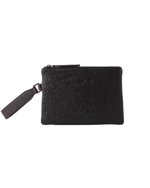AVGVS Drosera Clutxh Pouch with wrist strap black