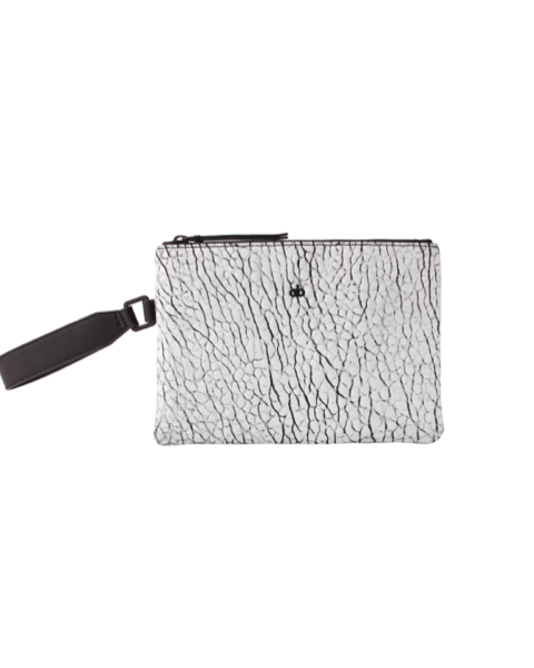AVGVS Drosera Clutxh Pouch with wrist strap white foil