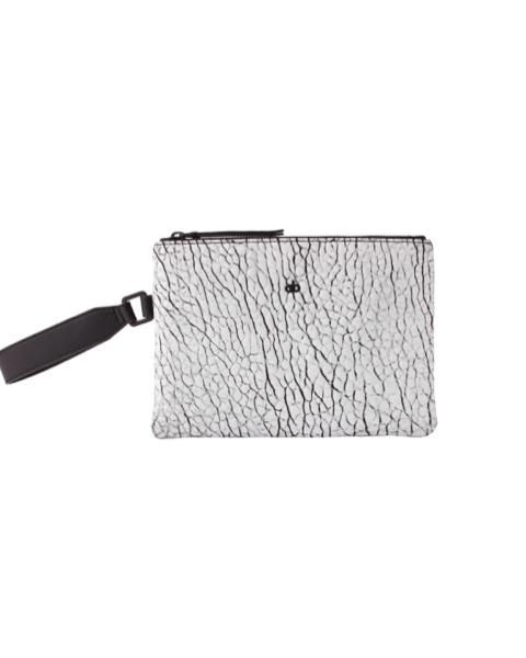 AVGVS Drosera Clutxh Pouch with wrist strap white foil