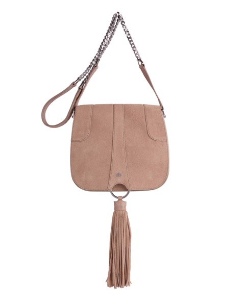AVGVS Omissa Saddle Crossbody Tassel Bag Almond